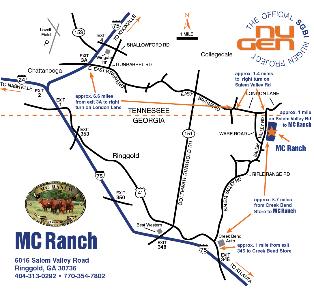 Map to MC Ranch