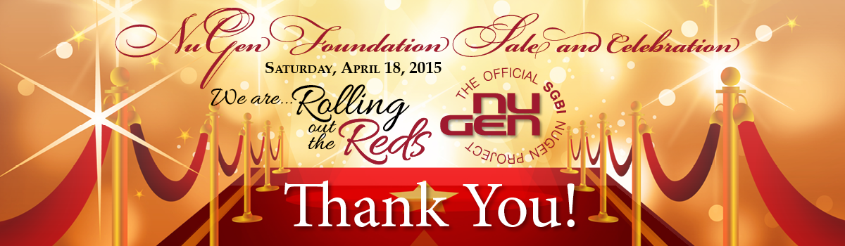 Thank you for helping to make the NuGen Foundation Sale and Celebration a success!